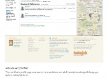 Job seeker profile page, Bangalore, India.