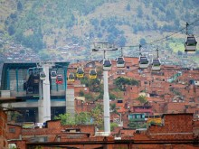 Santa Domingo station, Metrocable Line K, Medellín, Colombia.