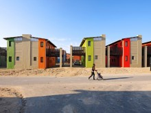 Completed 10x10 Sandbag Houses, Freedom Park, Cape Town, South Africa.
