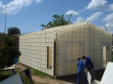 Plastic Formwork walls form the overall house structure, South Africa.