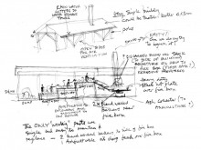 Concept sketch by architect Jim Archer.