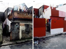 A Heliópolis residence before and after intervention. Photo: Daniela Schneider
