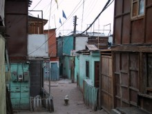 Original living conditions for the Quinta Monroy informal community.