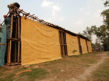 Construction of Modular Homeless Shelter.