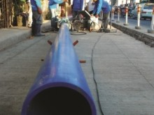 Laying pipes, Binangonan.