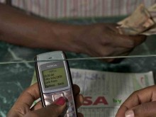 M-PESA mobile withdrawal.