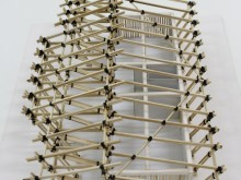 Model showing repetitive structural elements to ease construction and reconstruction.