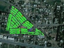 GIS map spatially locating building-use data.