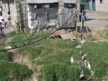Unsanitary conditions in Kibera informal settlement.