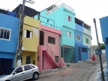 Improved streets and housing, Vila Olinda neighborhood, Diadema.
