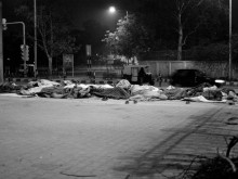 Homeless migrants, New Delhi, India.