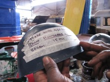 Testing the durability and impact resistance of resin composite material for helmets, Kampala, Uganda.