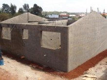 Moladi construction technology - shell of house completed in ONE day