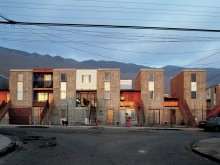 Incremental Housing with residents' self-constructed expansions, Quinta Monroy, Iquique, Chile.